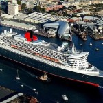 Cunard Queen Mary 2 cruise ship entering Sydney, Australia