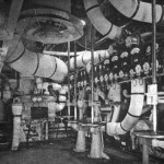 RMS Queen Mary 1 ship forward engine room