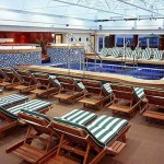 Cunard Queen Mary 2 cruise ship Swimming Pool indoor