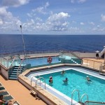 Cunard Queen Mary 2 cruise ship Swimming Pool outdoor