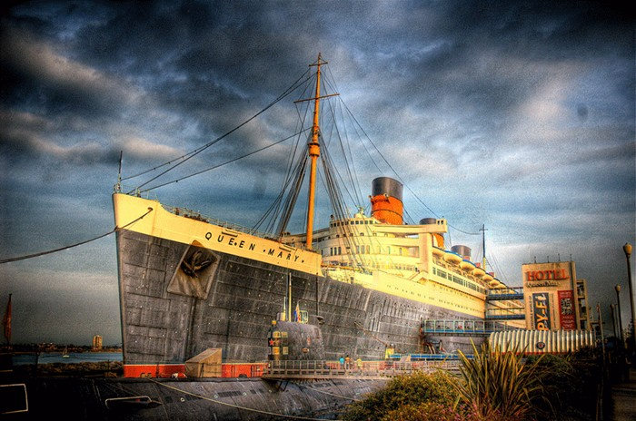 RMS Queen Mary haunted ship hotel, Long Beach CA