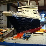 RMS Queen Mary 2 ship Lego model construction in Hamburg, photo 1 of 8