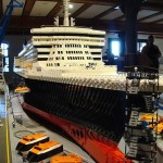 Cunard QM2 ship Lego model construction - photo 2 of 8