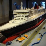Cunard QM2 ship Lego model construction - photo 3 of 8