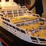 Cunard QM2 ship Lego model construction - photo 4 of 8