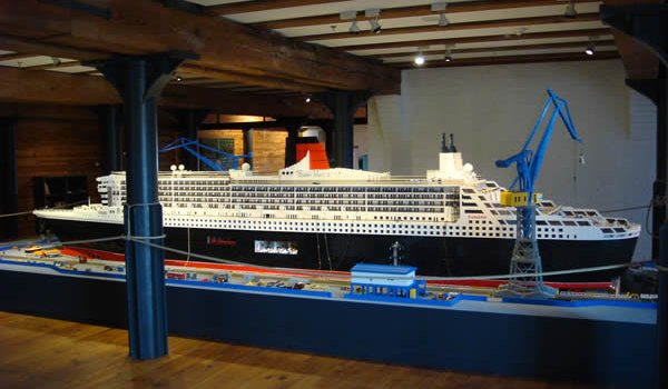 RMS Queen Mary 2 Lego model, Hamburg, Germany