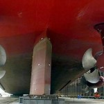 QM2 ship propulsion fixed pods (aft)