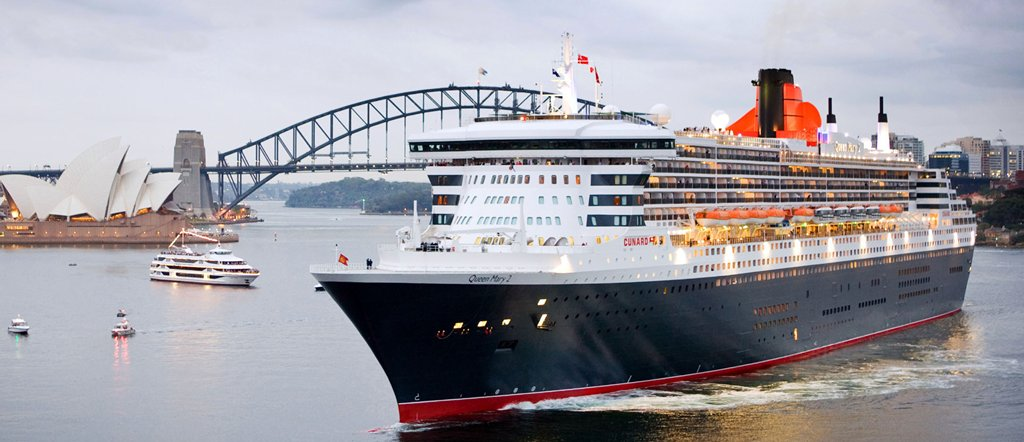 RMS Queen Mary 2 in Sydney, Australia